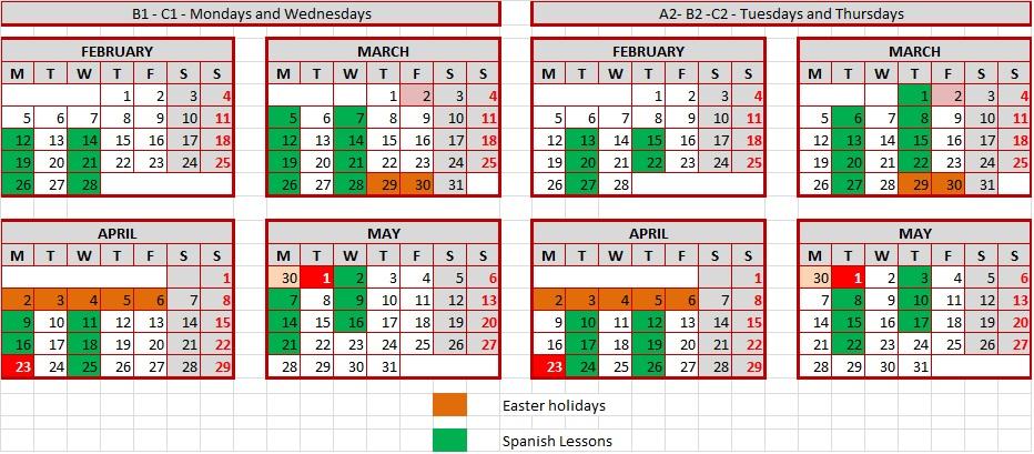 Calendario regular