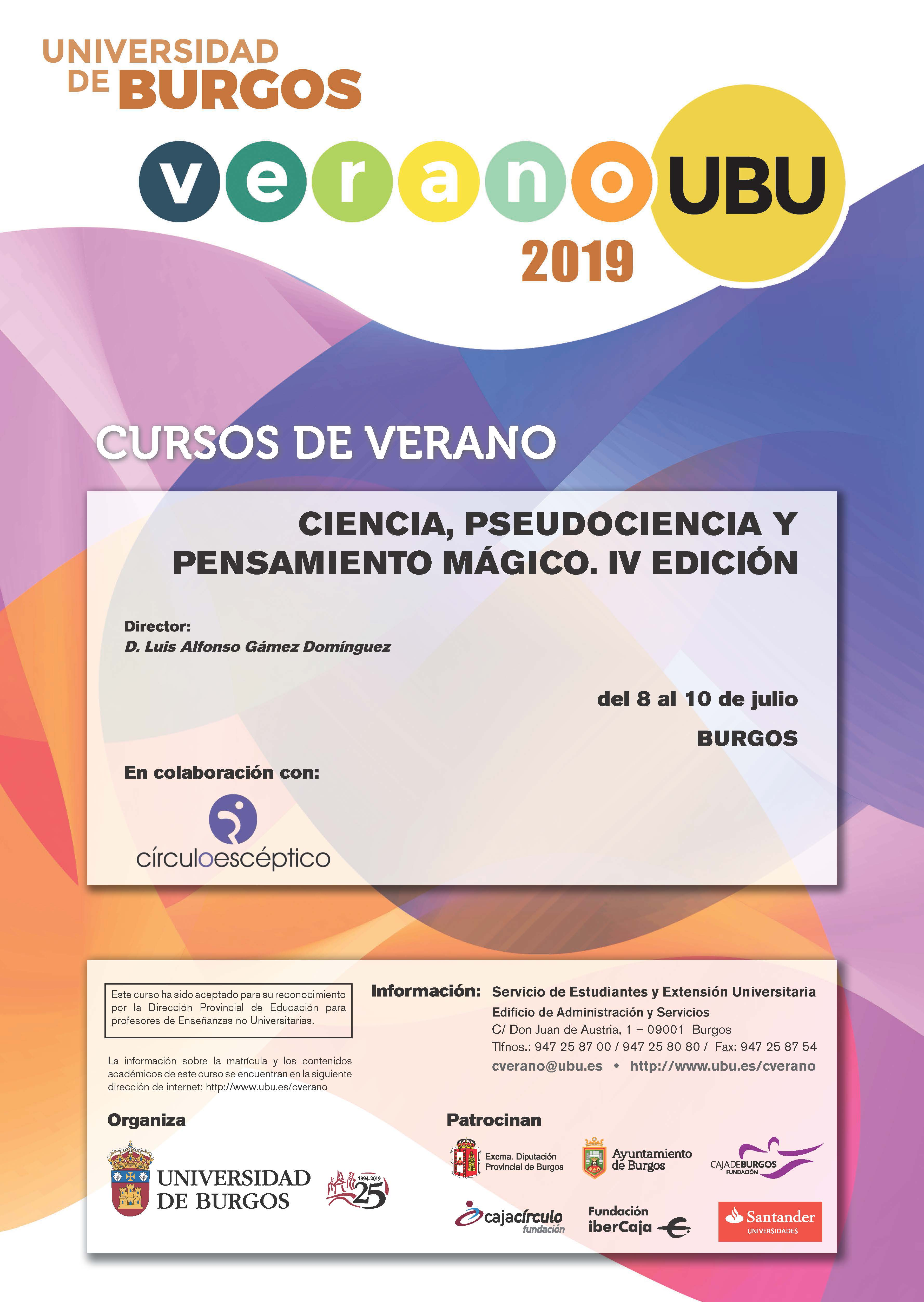 cartel pseudociencia 2019