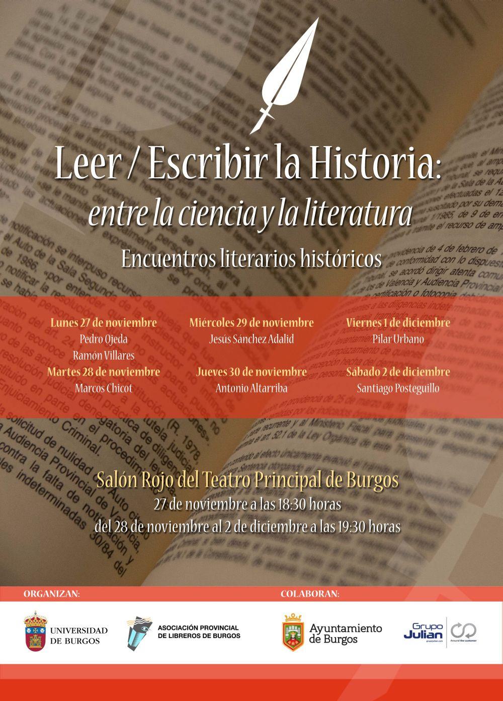 Encuentros literarios históricos   Universidad de Burgos