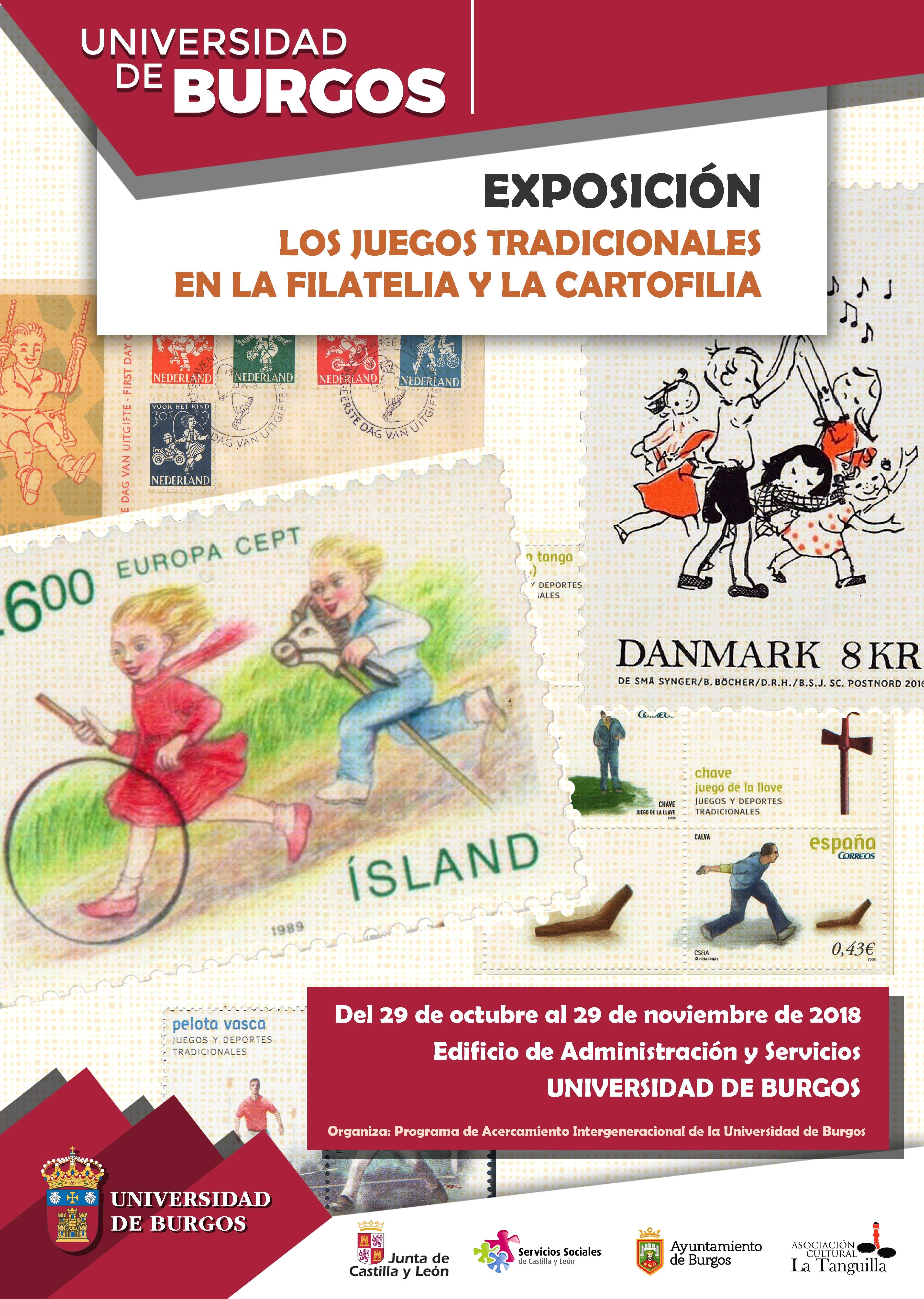 """Exposición """"Los juegos tradicionales en la filatelia y la cartofilia"""""""