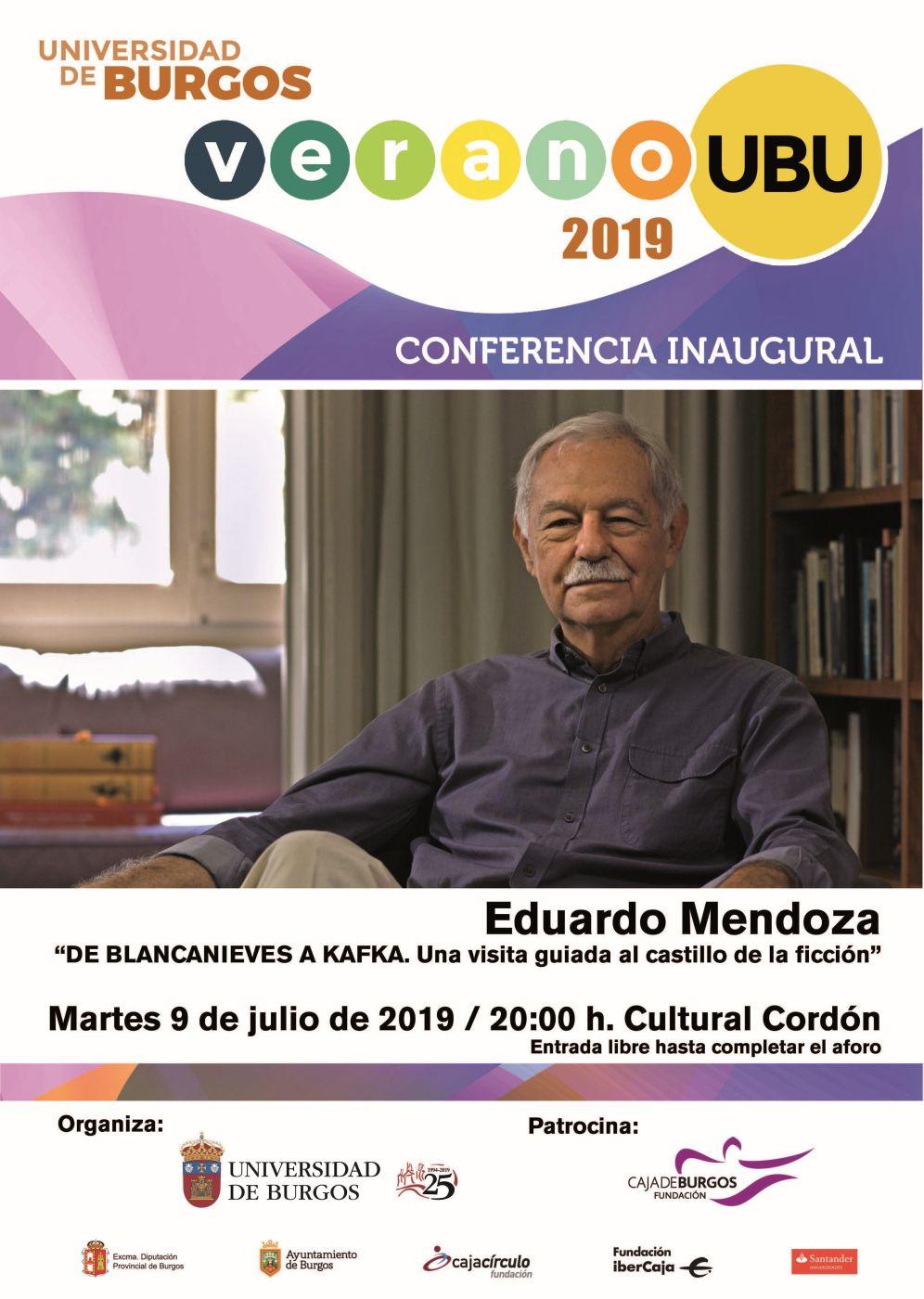 Conferencia inaugural de los Cursos de Verano. Eduardo Mendoza