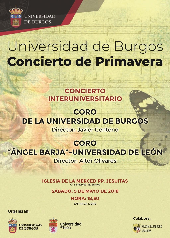 Concierto de primavera del Coro de la UBU