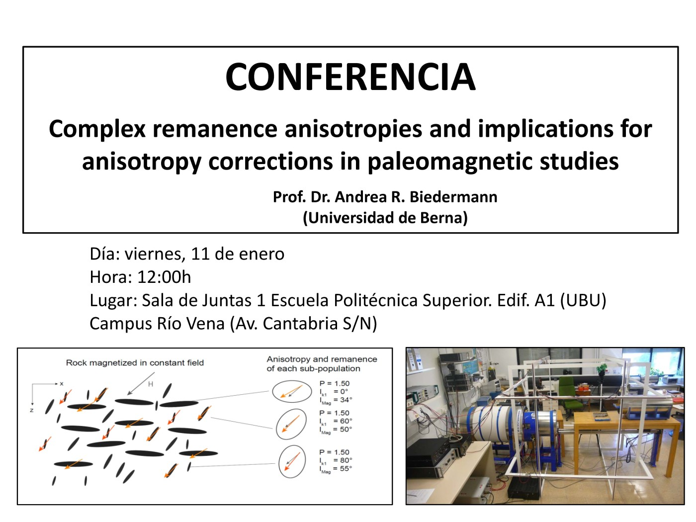 Conferencia. Complex remanence anisotropies and implications for anisotropy corrections in paleomagnetic studies
