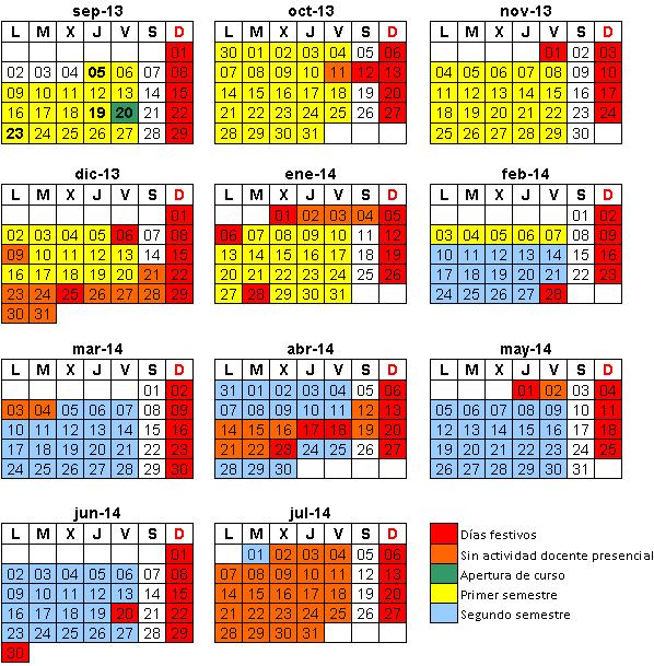 Calendario académico 2013-14