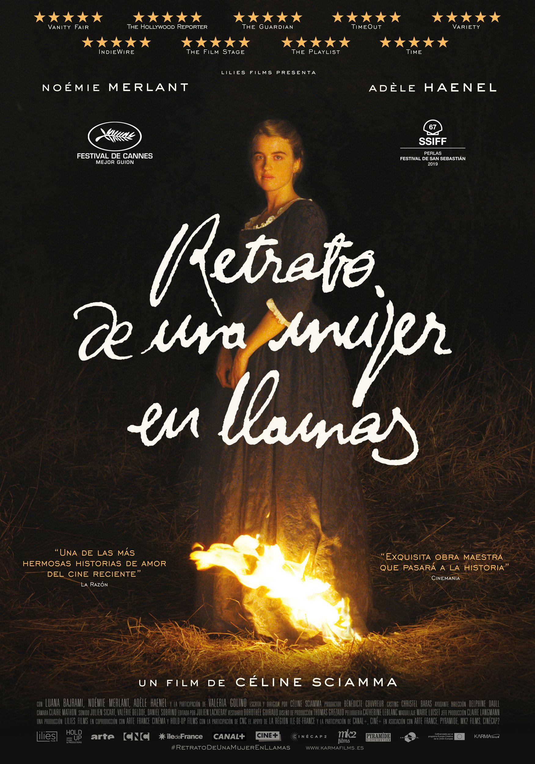 foto retrato de una mujer en llamas