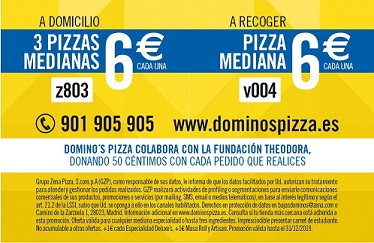 Trasera University Gold Card Domino's