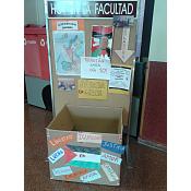 Espacio de recogida de material de la Facultad de Educación