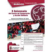Cartel X Aniversario Centro de Cooperación