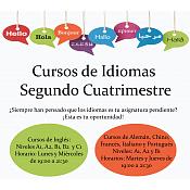 Cursos de idiomas 2º cuatrimestre