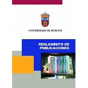 Portada del Reglamento de Publicaciones de la UBU