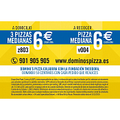 Oferta Domino's Pizza año 2019