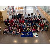 Estudiantes de 3º de infantil del colegio Miguel Delibes conocen el proyecto europeo LIFE-REPOLYUSE