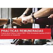 Prácticas Fundación ONCE - CRUE Universidades Españolas 2018/2019