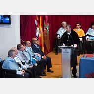 Gratulatoria del rector de la Universidad de Burgos, don Manuel Pérez Mateos