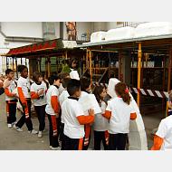 """Taller con los Niños del Colegio """"Saldaña"""" en la EPS (Milanera)."""