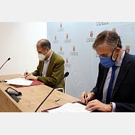 Firma del convenio de colaboración entre la Universidad de Burgos y el Club de Baloncesto Tizona
