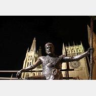 Peregrino y Catedral