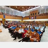 Doctores de la Universidad de Burgos el día de su investidura.