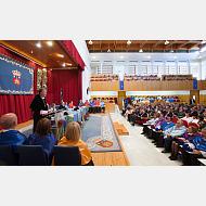 Momento de la intervención del Rector Magnífico de la Universidad de Burgos, Dr. Manuel Pérez Mateos