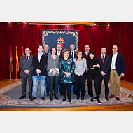 Foto de familia de Catedráticos de Universidad y Profesores Titulares de Universidad. 20 de diciembre de 2017