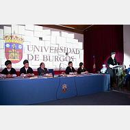 Gratulatoria del rector magnífico de la Universidad de Burgos,Dr. Manuel Pérez Mateos