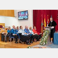 Intervención del rector magnífico de la Universidad de Burgos, don Manuel Pérez Mateos
