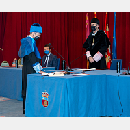 Vicerrectora de Internacionalización y Cooperación. Dra. Ileana María Greca Dufranc