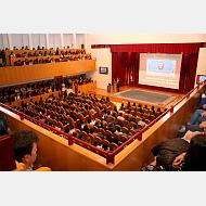 Bienvenida por parte del rector de la Universidad de Burgos, Dr. Alfonso Murillo Villar a los alumnos. Curso Acad.  2015-2016