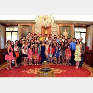 Recepción alcalde a estudiantes del TEC 2014