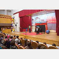 Fiesta infantil, entrega de premios concurso de postales navideñas
