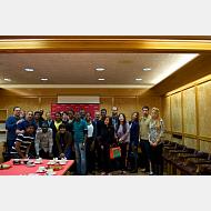 Group Photo at Cámara de comercio