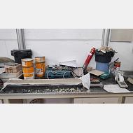 Canaleta para la evaluación de la retracción de secado del hormigón