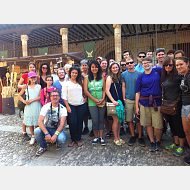 En Covarrubias con estudiantes de español