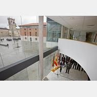Vista del Hospital del Rey desde el interior del Edificio de Administración y Servicios