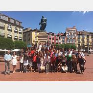 Grupo en la Plaza Mayor