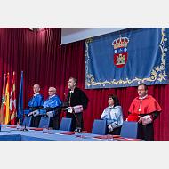 Vicerrector de Investigación, decano de Ciencias, rector, decana de Ciencias de la Salud y secretario general