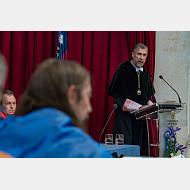 Intervención del rector magnífico de la Universidad de Burgos,