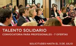 Cartel Talento Solidario