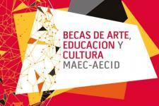 Cartel Becas de educación, arte y cultura