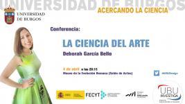 """Cartel """"La ciencia del arte"""" por Deborah García Bello"""