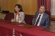 Acto de clausura con el Rector y Vicerrectora de Itnernacionalización, Movilidad y Cooperación