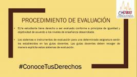 Conoce Tus Derechos: Procedimiento de Evaluación