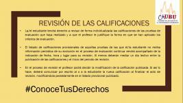Conoce Tus Derechos: Revisión de las Calificaciones
