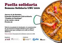 Cartel I Paella Solidaria