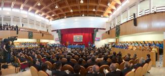 Aula Magna en la investidura del los Excmos. Sres. Arsuaga, Bermudez y Carbonell
