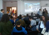 Grupo CROPU hace una presentación en la EPS de la UBU