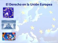 El derecho en la unión Europea